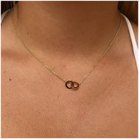 Dainty Linked Gold Necklace - Dainty Linked Gold Necklace