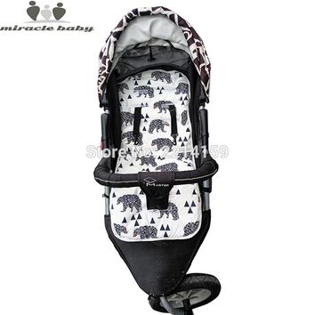 Fashion Baby Diaper Pad New Cheap Baby Stroller Cushion Cotton Stroller Pad Seat Pad For Baby Prams Stroller Accessories