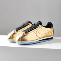 Nike Classic Cortez Metallic Leather Sneaker   Urban Outfitters