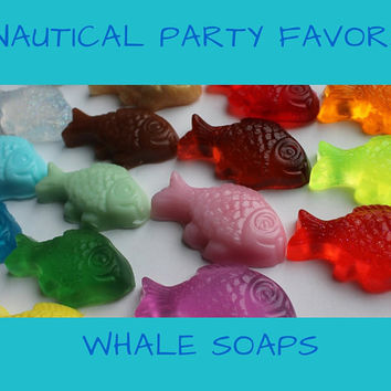 Nautical Party Favor - One Fish Two Fish Party Favors for nautical or beach theme Bridal Shower, Baby Shower or Wedding - Pack of 25