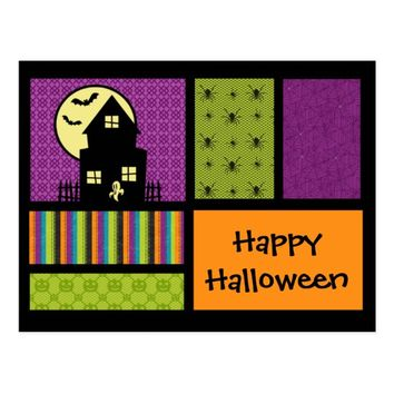Happy Halloween Scrapbook Style Postcard