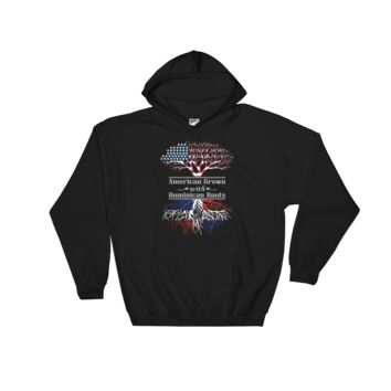 American Grown With Dominican Roots - Hooded Sweatshirt