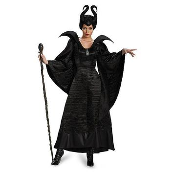 DCCKHY9 New arrival!!high-quality Sleeping curse costumes,Adlut Maleficent Cosplay halloween Costumes,female witch cosplay