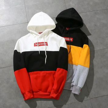 Supreme Hot Patchwork Unisex Hoodies [429893484580]