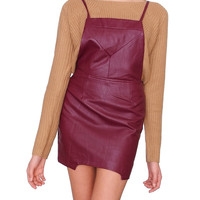 Angel City Overall Dress - Red