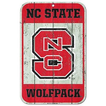 """Licensed North Carolina State Wolfpack NCAA 11"""" x 17"""" Fence Plastic Wall Sign 11x17 KO_19_1"""