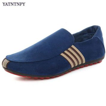 YATNTNPY Comfort Men Flat shoes Casual Canvas Sapatos Loafers Man Moccasins slip-on leisure sneakers espadrilles  (size small)