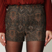 Free People High Waisted Printed Shorts