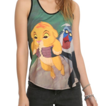 Disney The Lion King Simba And Rafiki Girls Tank Top