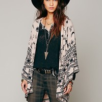 Spell and the Gypsy Collective Womens Boho Tribal Kimono - Peach, One