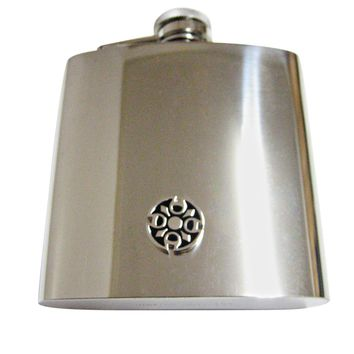 Round Celtic Design 6 Oz. Stainless Steel Flask