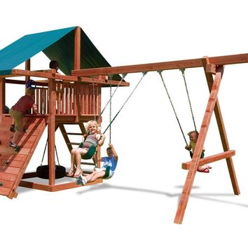 Playnation Three Ring Adventure Wooden Swing Set