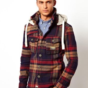 Superdry Huntsman Hoody Overshirt at asos.com