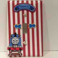 Thomas The Train Light Switch Cover, Light Switch Cover, Thomas the Train Nursery Decor