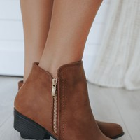 High Demand Booties - Cognac