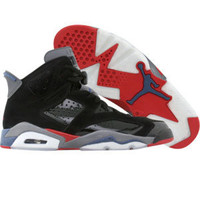 Air Jordan 6 Retro - Pistons (black / varsity red / true blue / light graphite) - Shoes - 384665-001 | PickYourShoes.com