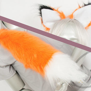 Best Fox Combo Tail and Ears - Orange Cosplay, Accessories, Costume