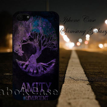 Divergent Amity Faction Nebula For - iPhone 4 4S iPhone 5 5S 5C and Samsung Galaxy S3 S4 S5 Case