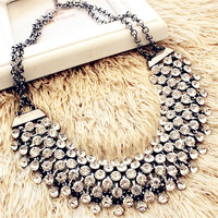 Vintage Crystal Necklaces Women Jewelry