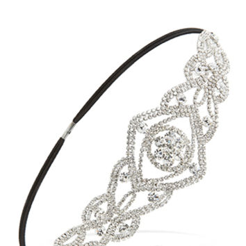 FOREVER 21 Ornate Rhinestone Headband Silver One