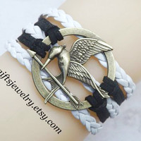 Bracelet - ancient silver jewelry, leather jewelry, mocking,bird,jay bracelet,Burning Girl