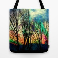 crazy sky Tote Bag by Haroulita | Society6