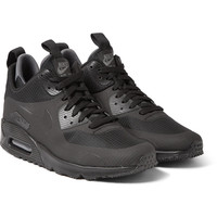 Nike - Air Max 90 Mid Winter Leather and Mesh Sneakers | MR PORTER