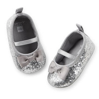 Carter's Sequined Mary Jane Crib Shoes