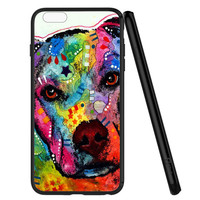 Pitbull Love Painting iPhone 6 | 6S Case Planetscase.com