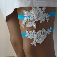 something blue, garter, toss garters, ivory,   lace,   wedding garters,    bridal accessores, handmade,  garter suspander,    free shipping!