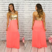 Seeking Sparkles Maxi in Coral