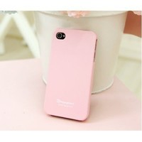 HK - Pink Profusion Candy Color Silicone Rubber TPU Protector Protective Case Cover for iPhone 4 4G