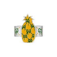 Gucci - GucciGhost pineapple ring in silver and enamel