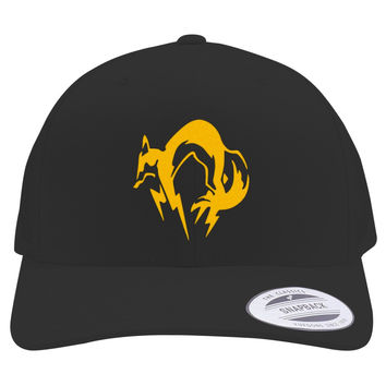Metal Gear Solid Fox Embroidered Retro Embroidered Trucker Hat