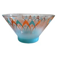 Pre-owned Mid-Century Space Age Ombre Bowl