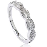 1/8ct Pave Diamond Infinity Vintage Ring 14K White Gold