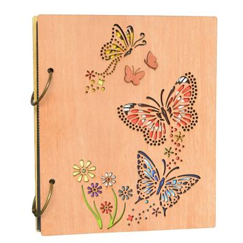 Giftgarden Vintage Butterfly 4x6 Photo Album Book 120 Pockets Engraved Picture Albums for  120 pictures