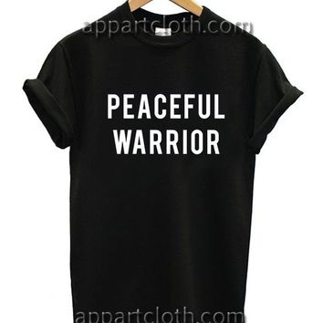 Yoga Peaceful Warrior Funny Shirts, Funny America Shirts