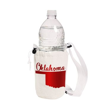 Water Bottle Carry Bag Insulated - Oklahoma by Antique Garden