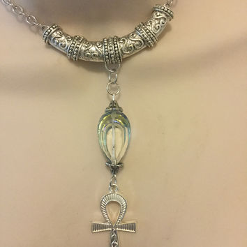 Egyptian sliver Ankh Necklace/Free Shipping