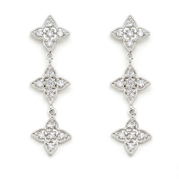 Trudy Paved Star Dangle Earrings | 3 Carat | Cubic Zirconia