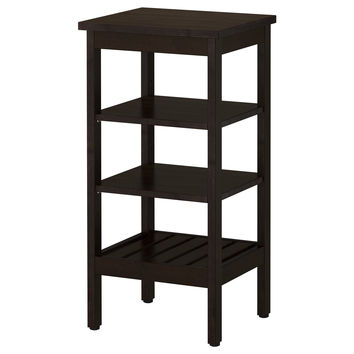 HEMNES Shelving unit - black-brown stain  - IKEA