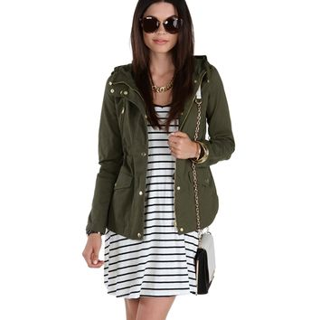 Into The Wild Olive Anorak