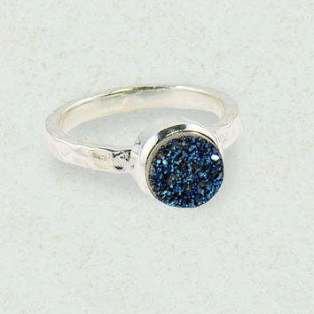 Sparkle Druzy Ring in Sterling Silver