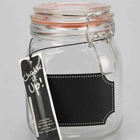 Chalkboard Label Canister- Clear One