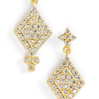 Women's Freida Rothman 'Metropolitan' Pave Drop Earrings - Gold/ Clear