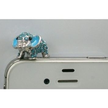 Amazon.com: Dust Plug-earphone Jack Accessories Crystal Blue Elephant / Cell Charms / Dust Plug / Ear Jack for Iphone 4 4s / Ipad / Ipod Touch / Other 3.5mm Ear Jack(with Cutely Gift Box): Cell Phones & Accessories
