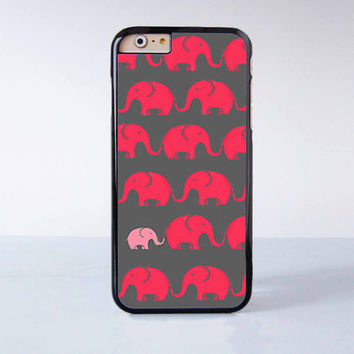 Cute Little pink  Elephant  Plastic Case Cover for Apple iPhone 6 6 Plus 4 4s 5 5s 5c