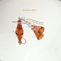 Swarovski Red Magma Artemis Earrings, Stainless Earwires