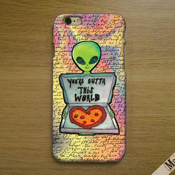 Q-224  Alien - You're outta this world - Alien language phone case Ip6/6plus, Iphone4/4s, Iphone5/5s/5c, Samsung s3/s4/s5, Note3 case